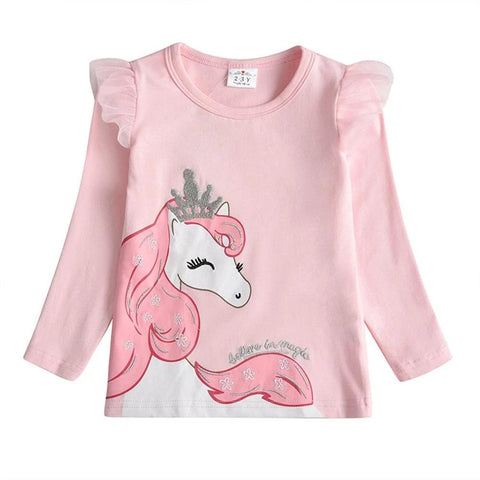 Girls Unicorn T shirt Baby Girls Cotton Tops Toddler Tees Clothes Children Clothing Unicorn T-shirt Children Tees for Girls