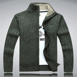 Man Sweater Casual Men cardigan thick cashmere sweater Outdoors outerwear winter Brand  Army Green white blue A0369