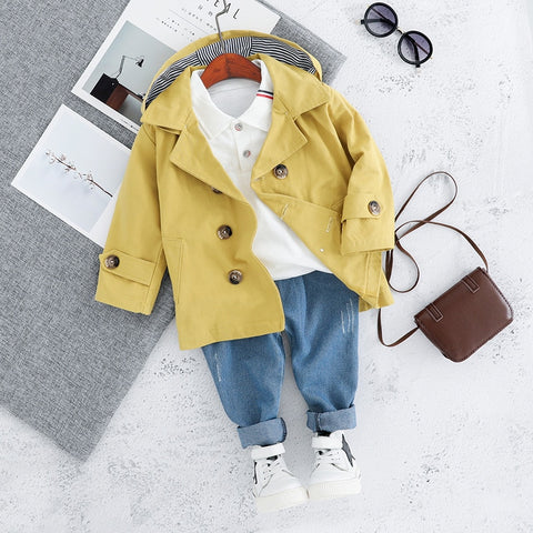Carters Official Store New Newborn Baby Girl Clothes Fall Children's Windbreaker Three-piece Boy's Fashionable Jeans Suit