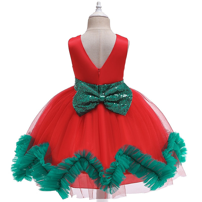 kids dresses for girls Flower embroidery tutu Kids Clothing Elegant beading Girls Dresses for Children Princess Party Costumes