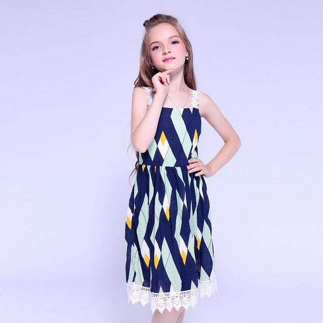 Party NEW Girls Dress Denim cotton dress Summer wedding new with tags