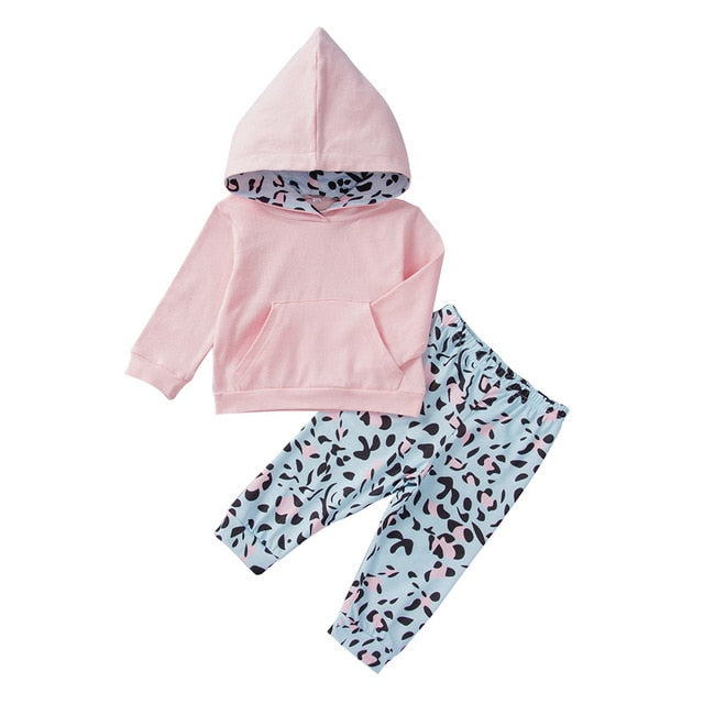 Newborn baby Sets Winter Toddler Baby Kids Girl Hooded Hoodie Sweatshirt Tops Clothes christmas set infantil