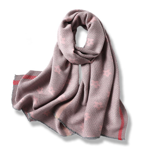 Design brand women scarf winter warm cashmere scarves lady shawls and wraps pashmina bandana thick fold female foulard