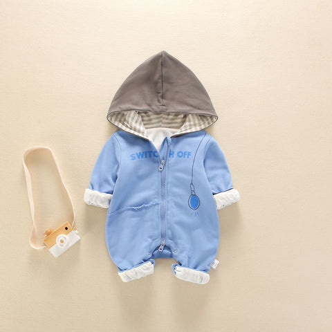Autumn & Winter Toddler Baby Boys Girls Romper Newborwn Infant Clothes Jumper Boys Clothing Hooded Jumpsuit Bebe Outfits