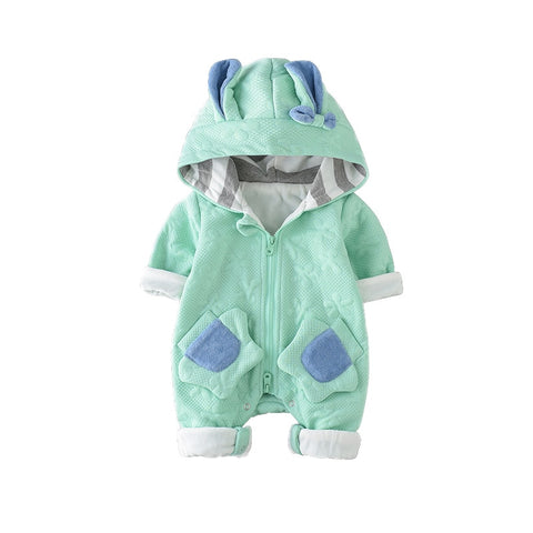 Toddler Baby Boys Rompers Spring Autumn Infant Baby Clothes Rabbit Ears Animal Modeling Hooded Jumpsuits Baby Clothing Bebe