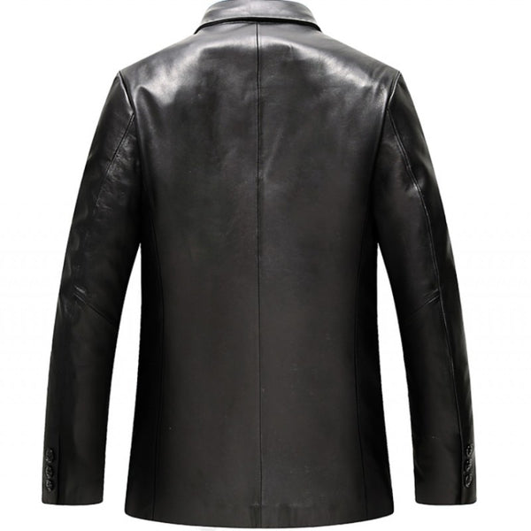 Autumn Sheepskin Genuine Leather Mens Jackets Female Single Breasted Turn Down Collar Blouson Cuir Homme
