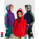 Kids Hoodies Streetwear Hooded Loose Fit Toddler Hoodie Letter Embroidery Boys Girls Clothes