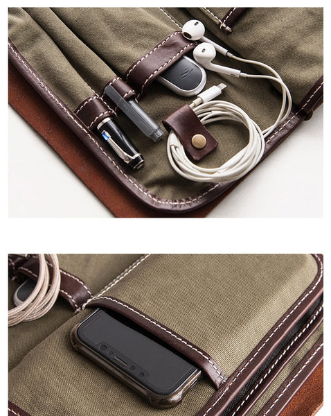 Multifunctional handbag men's handbag mobile phone bag bag document bag hand grab Bag
