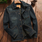 Military Style Vintage Men's Denim Jacket and Coats Plus Size 4XL European Designer Mens Jean Coat Casual Outfit Streetwear