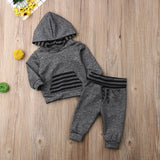 Newborn Infant Baby Boy 0-18M Clothes Hooded Top Sweatshirt Pants Casual Outfit Set