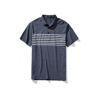College Teenage Boy Casual Loose Sports Polo Shirt Contrast Color Strip Tops Tee Men Summer Short Sleeve T-shirt