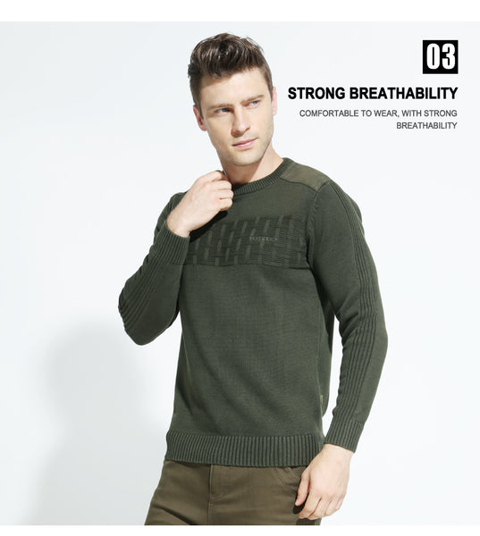 New Casual Men's Sweater O-Neck Slim Fit Knitwear Mens Sweaters Pullovers Homme Winter Thick Clothing