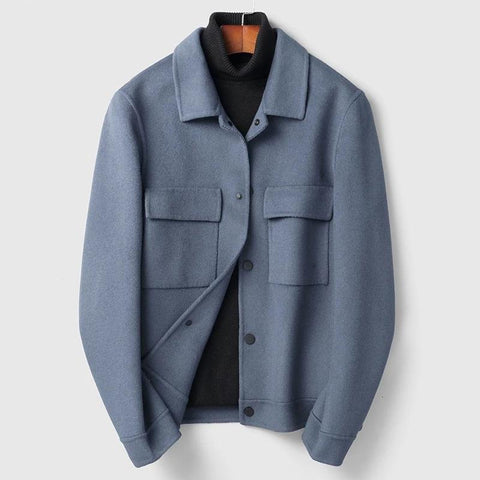 Lapel Woolen Overcoat Male Nothing Cashmere Woollen Overcoat Man Short Fund Youth Wool Loose Coat