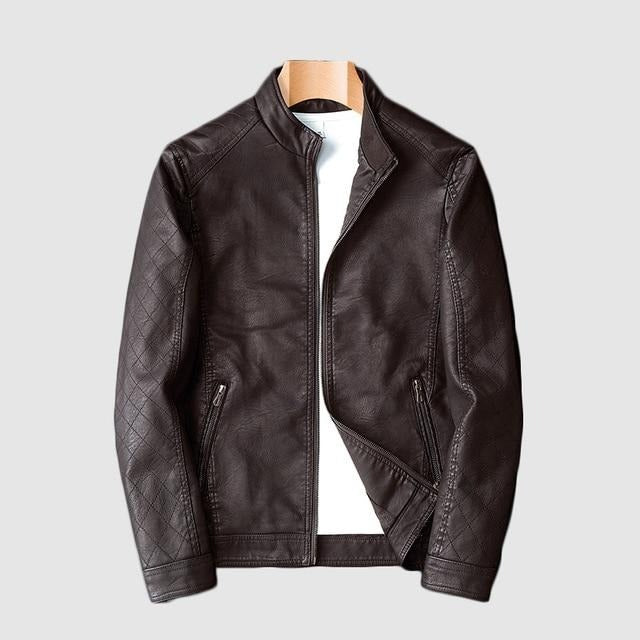 New Arrive Motorcycle Leather Jacket Men Men's Leather Jackets Fashion Street Style Mens Leather Coats