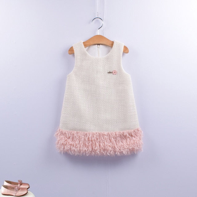 Fashion Baby Girls Clasic Autumn Dress Plaid sleeveless Kids Princess clothes for Birthday Performance Party 12M-8Ys Winter Wear