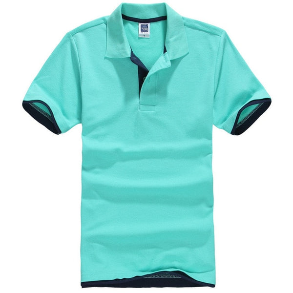 PoloShirts Plus Size XS-3XL Casual Stand Collar Men's PoloShirt Men Short Sleeve Cotton Shirt Jerseys Cotton TEES Free Shipping