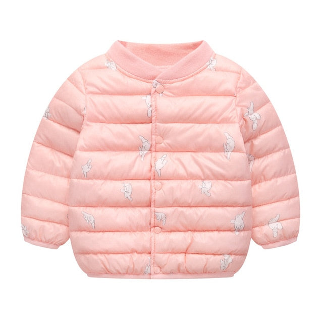 Kids Winter Coats New Brand Girls Jacket Coat Down and Parkas Warm Boy Clothes Cartoon Children Outfits Snowsuits
