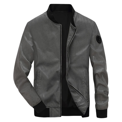 New arrival faux leather jacket men fashion motorcycle biker mens leather jacket chaqueta moto hombre 4XL