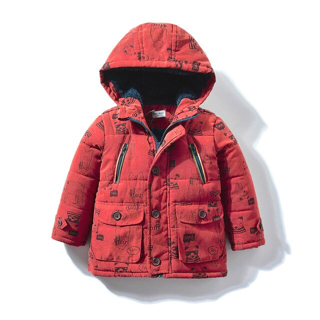 Baby Boys Autumn Winter Hooded Coat Jacket Outfits Kids Zipper Outerwear misha Bear Warm Jacket Toddler Children Clothes