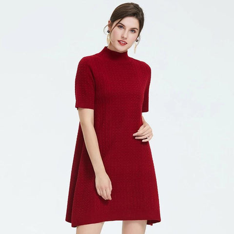 Autumn new arrival women dress high quality top red color dress elegant autumn clothes for women ladies dresses