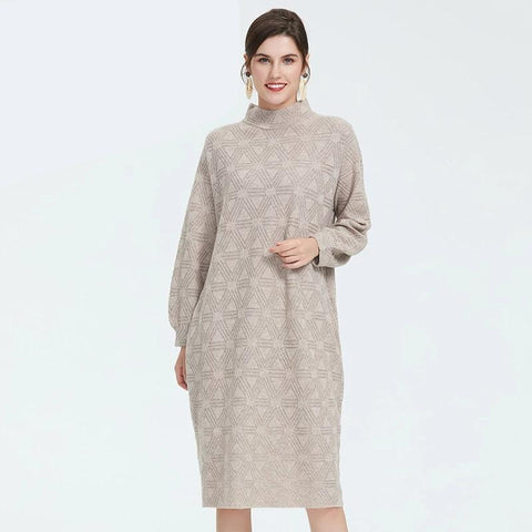 Autumn new arrival dress women high quality long sleeve dress top gray color women elegant dress for autumn