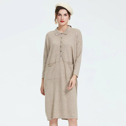 Autumn new arrival dress women high quality long new fashion style women dress gray color elegant women's clothing 58