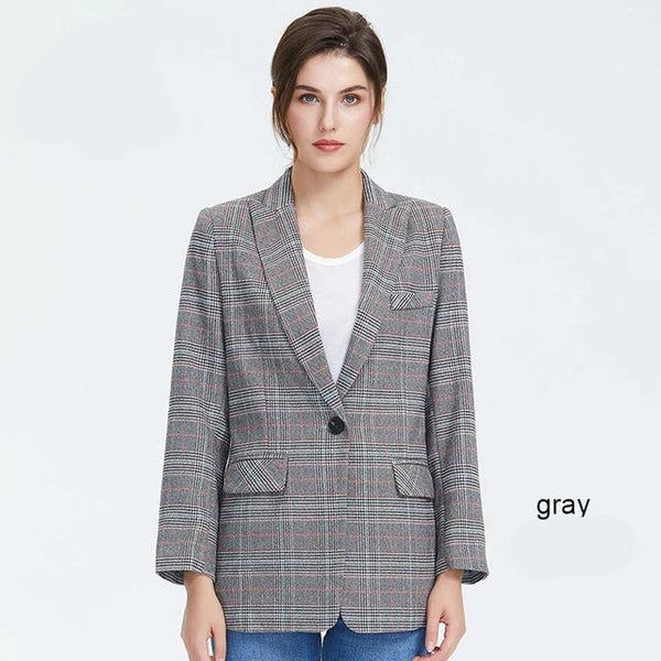 Autumn new arrival blazer feminino high quality new fashion office style womens tops and blouses elegant jacket
