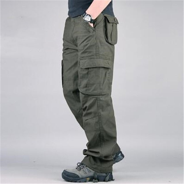 New Combat Military Tactical Pants Men Large Multi Pocket Army Cargo Pants Casual Cotton Outdoor Breathable Trousers Men