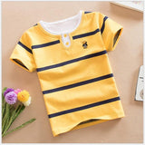 Striped T-shirt children's o-neck t-shirts for boys summer clothes for kids boy teenage cotton t shirt for boys 2 - 16 years old