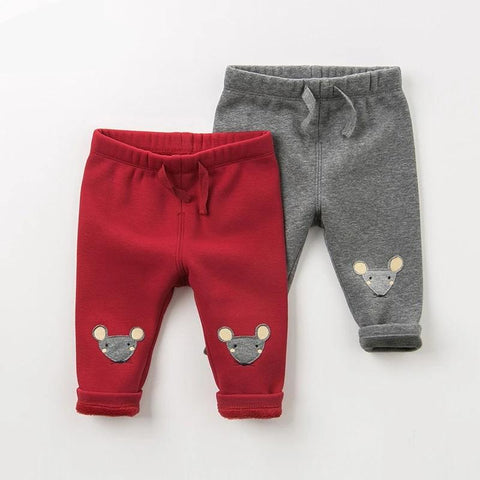 Winter baby girls boys cartoon unisex pants children full length kids pants infant toddler trousers