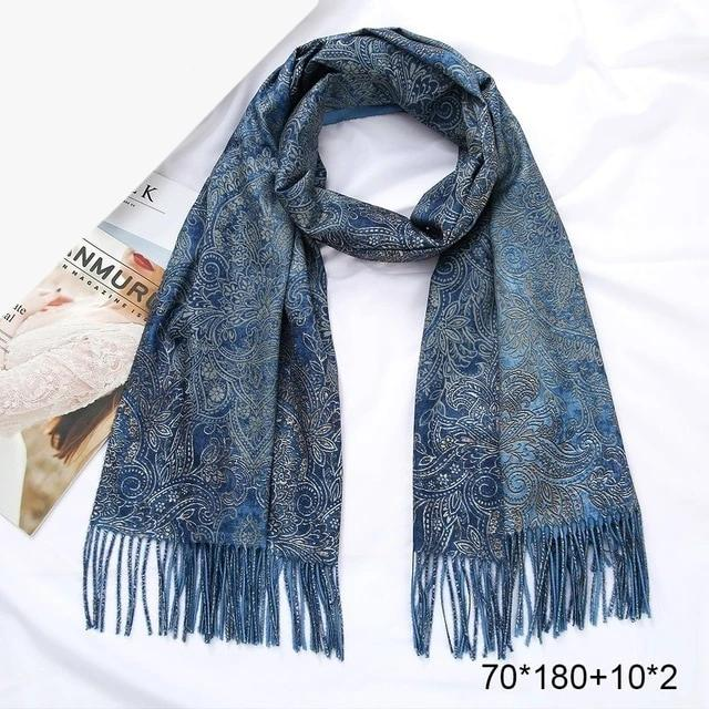 Winter Cashmere Scarf Women Foulard Wool Kerchief Bandana Sjaals Voor Dames Trumpet Plaid Poncho Women Scarf For Ladies