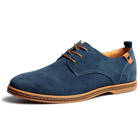 Fashion Round Toe Soft Suede Leather Men Casual Shoes Breathable Man Leather Shoes Designer Brand Men Plus 48 Size Shoes