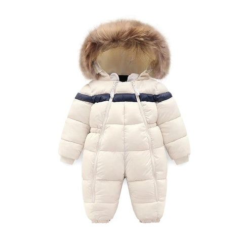 Children Winter Outwear Infant Baby Boy Girl Rompers Thicken Fur Baby Snowsuit  Super Warm Jumpsuit Toddler Outwear