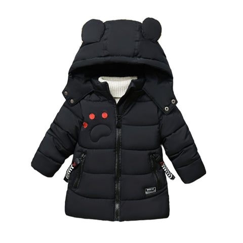 New boy padded coat winter children cartoon cotton-padded jacket long version more male children