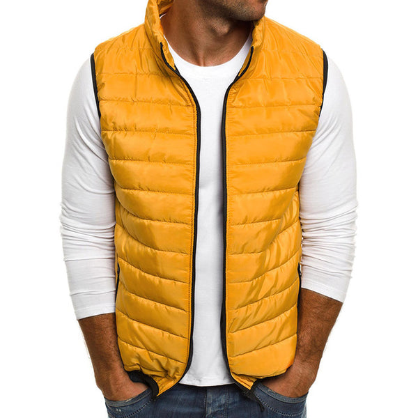 Vest Men Autumn Winter Jackets Thick Vests Man Sleeveless Coats Male Warm Cotton-Padded Waistcoat Men Gilet Veste Hommes