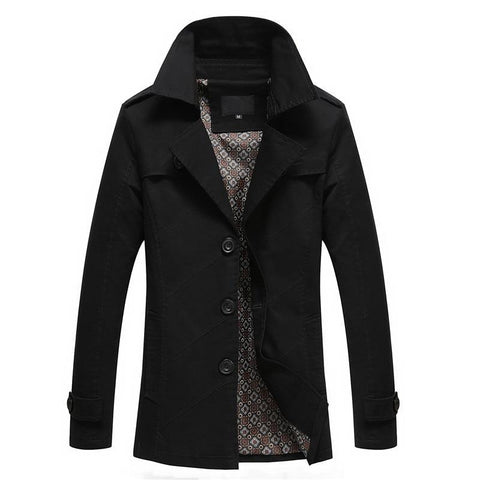 Mens Jackets And Coats Long Section Fashion Trench Man Coat Slim Jackets Casual Men Casual Fit Overcoat Outerwear