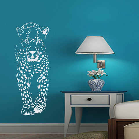 Cheetah Removable Wall Stickers for Nursery Home Bedroom Waterproof Vinyl Decals Animal Leopard Living Room or Kids Rooms