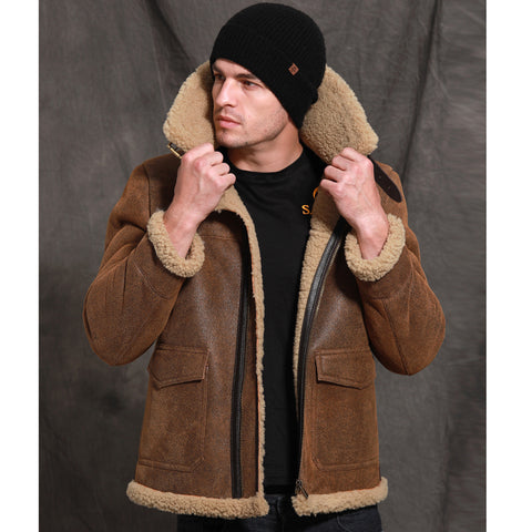 New Brown Short Slim Fur Coat Real Sheepskin Fur Shearling Casual Genuine Leather Fur Outwear Thicken Warm Winter Fur