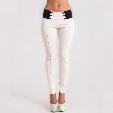 Elastic High Waist Sexy Skinny Pencil Leggings For Women Casual Black White Grey Thin Pants Leggings