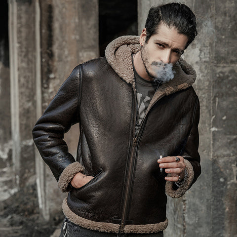 men genuine leather jacket real shearling original ecology sheepskin coat fur coats outerwear short design original ecologiacal