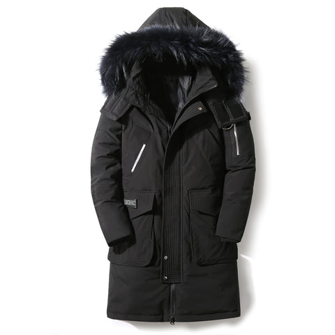 90%Down Jackets new winter men's down jacket high quality Detachable Fur Collar male's jackets thick warm Outdoor windproof