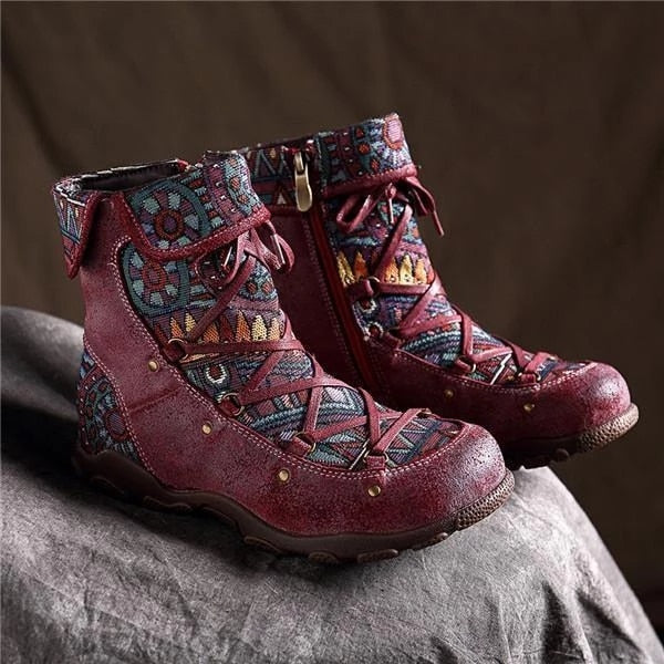Women Ankle Boots Ladies Vintage Cross Strap Boots Women's Platform Plus Size Shoes Woman Fashion Autumn Female Footwear