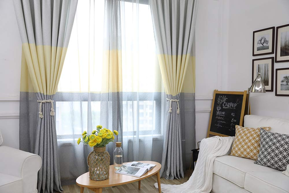 Gradient Curtains Purple Yellow Blackout Curtain For Living Room Window  Curtain for Bedroom Kitchen Room Drapes 21