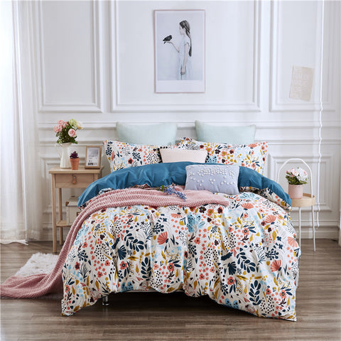 3pcs Bedding Sets Bedclothes Duvet Cover Pillow Case Quilt Cover Soft  Fashion Newest Pillowcase Colorful Flowers
