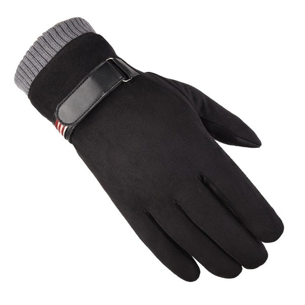 New Men's Warm Gloves Winter Gloves Plushed and Thickened Gloves Touch Screen Gloves