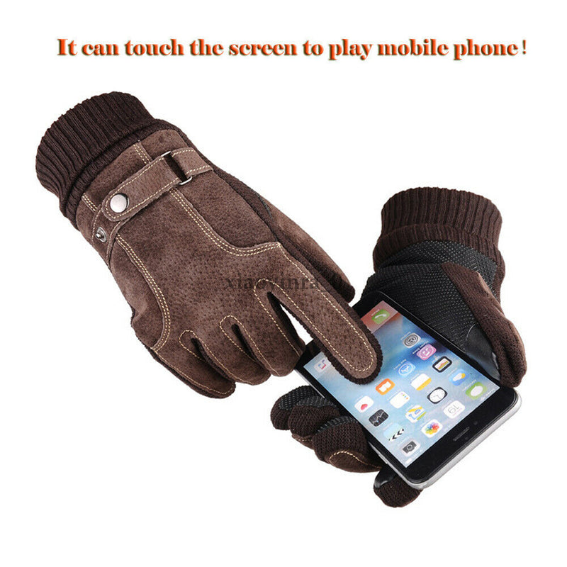 Waterproof Men's Women Winter Bicycle Ski Warm Motorcycle Touch Driving Gloves Winter Warm Fashion Gloves Mittens