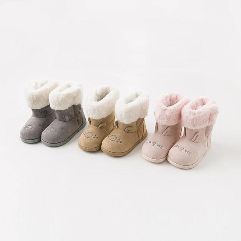 Winter baby girl snow boots  boots solid brand shoes
