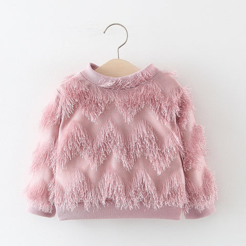 Baby Girl Sweatshirt Kids Clothing Tassels Baby Sweatshirt Toddler Girl Winter Clothes Girls Sweatshirt Boutique Tops