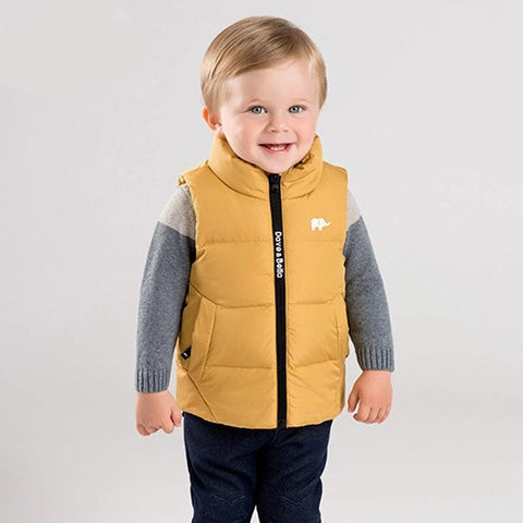 unisex baby winter solid vest children sleeveless ultra light down coat baby high quality outerwear