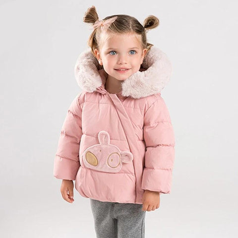 Baby unisex winter down jacket children 90% white duck down outerwear cute coat